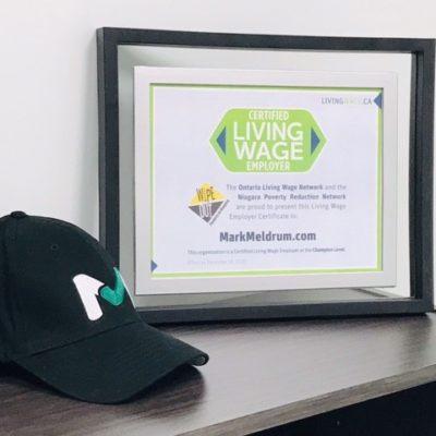 MarkMeldrum.com is Niagara's Latest Certified Living Wage Employer